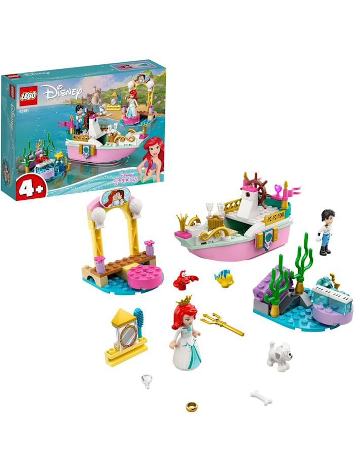 LEGO Konstruktionsspielzeug Disney Princess Arielles Festtagsboot, Bunt