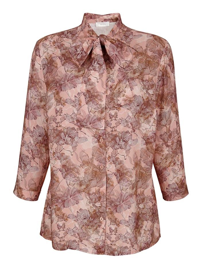 Bluse mit abnehmbarem Schluppe