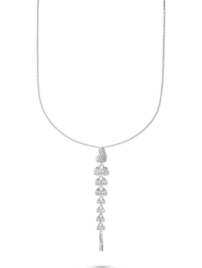 Jette JETTE Silver Damen-Kette 925er Silber 47 Zirkonia, silber