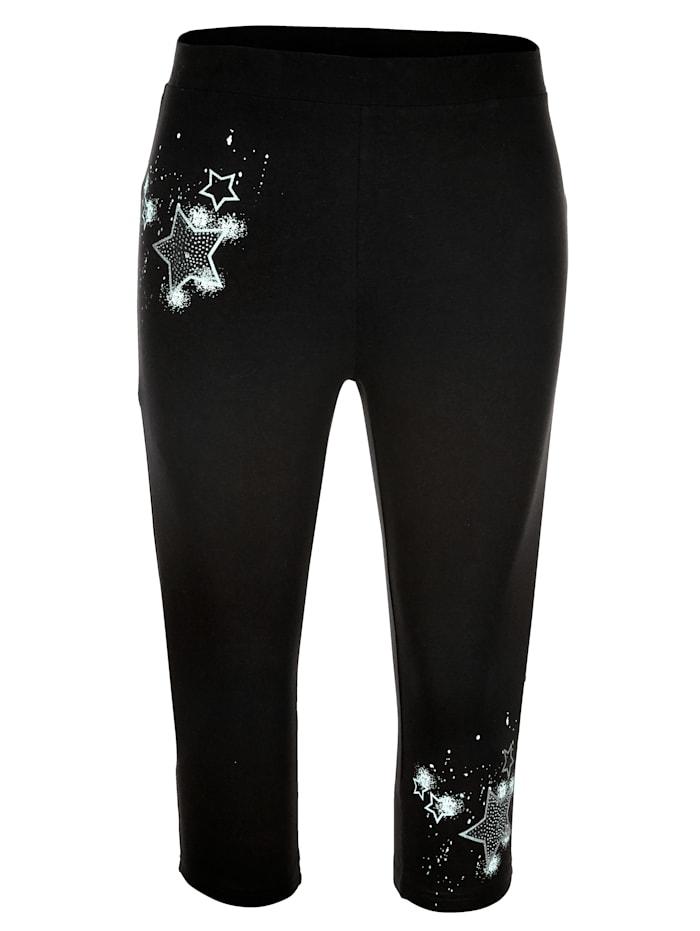 MIAMODA Capri nohavice v elastickej jersey kvalite, Čierna
