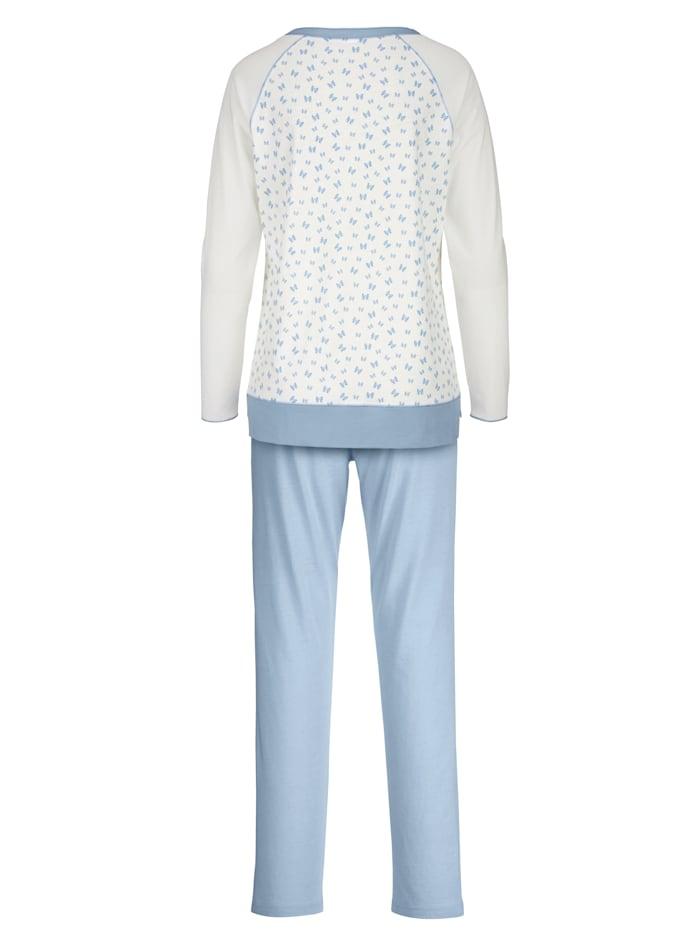 Schlafanzug mit Kontrastnähten