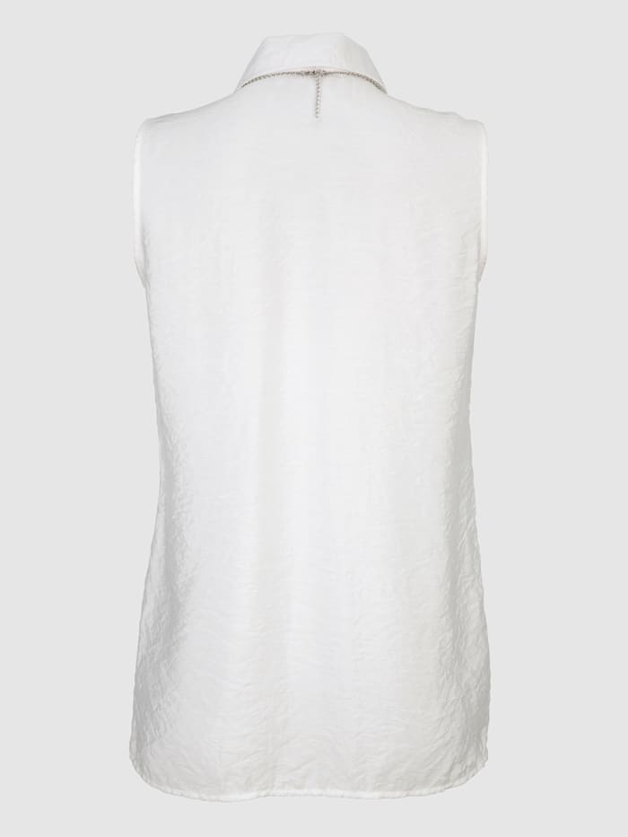 Bluse mit abnehmbarer Kette