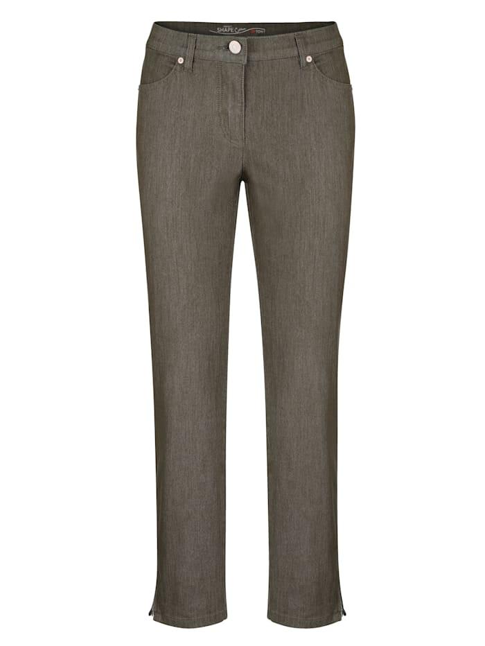 7/8-Jeans mit Saum-Reißverschluss