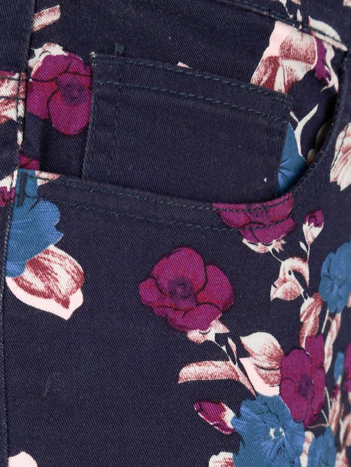 Druckhose mit Blumenmuster