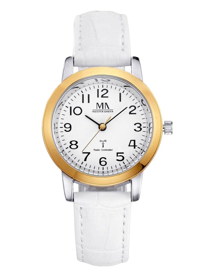 Meister Anker Rádiom riadené hodinky, Biela