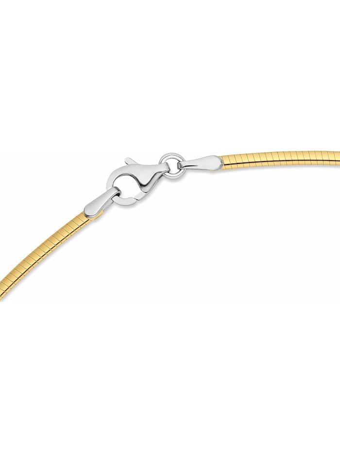 CHRIST Damen-Halsreif 585er Gelbgold, 585er Weißgold