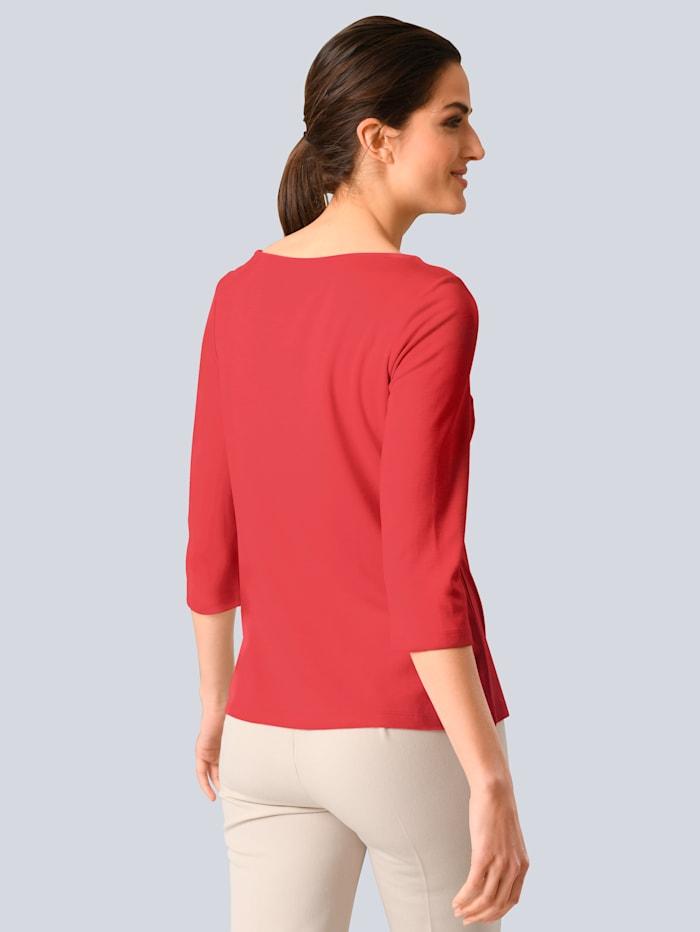Shirt mit modischem Karree-Ausschnitt