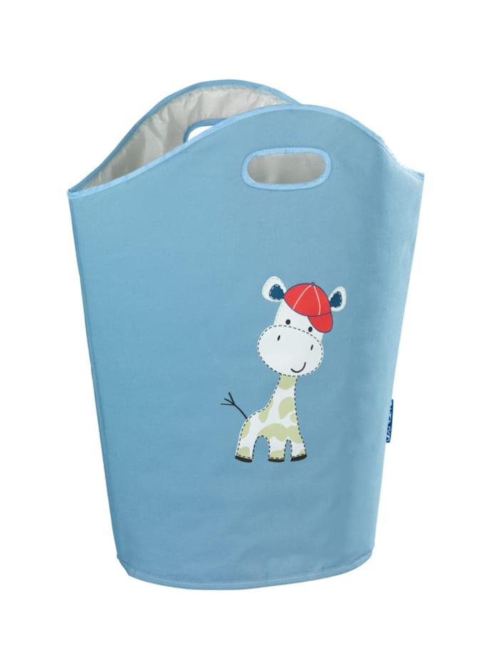 Wenko Wäschesammler Kids Gerry, Wäschekorb, 24 l, blau, Außenmaterial: Blau, Innenmaterial: Beige