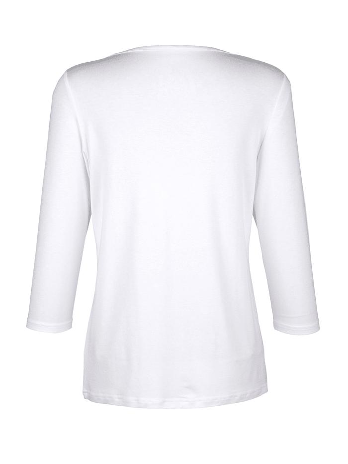 Shirt mit Chiffon Einsatz