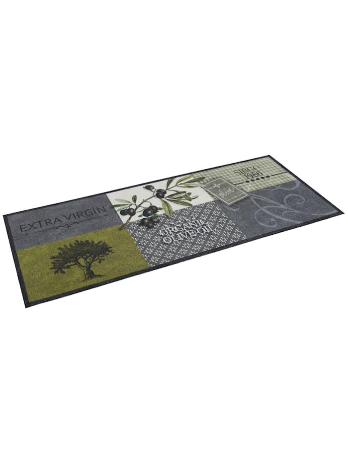 Pergamon Küchenläufer Teppich Trendy Olives, Grau