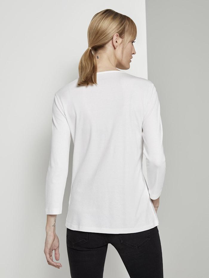 Basic Shirt mit 3/4-Arm