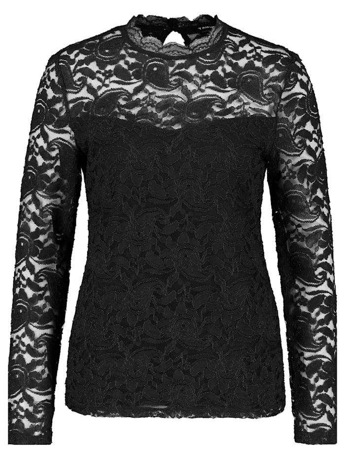 Taifun Spitzenshirt, Black