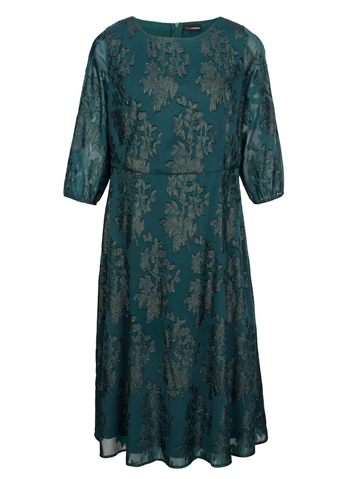 Kleid mit glitzerndem Blumenjacquard