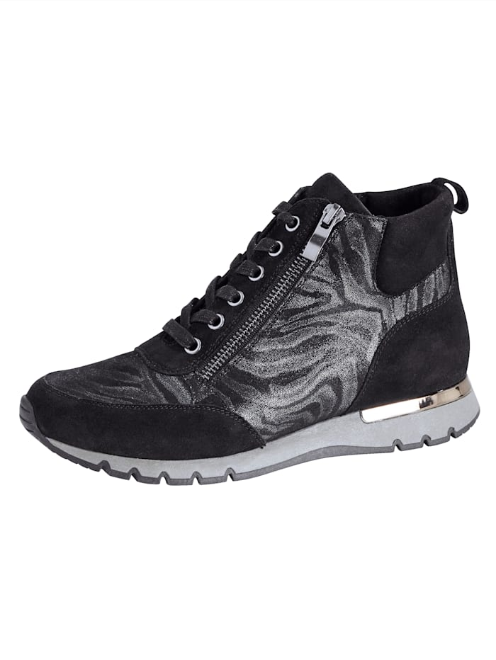 MONA Bottines lacées avec glissière, Noir