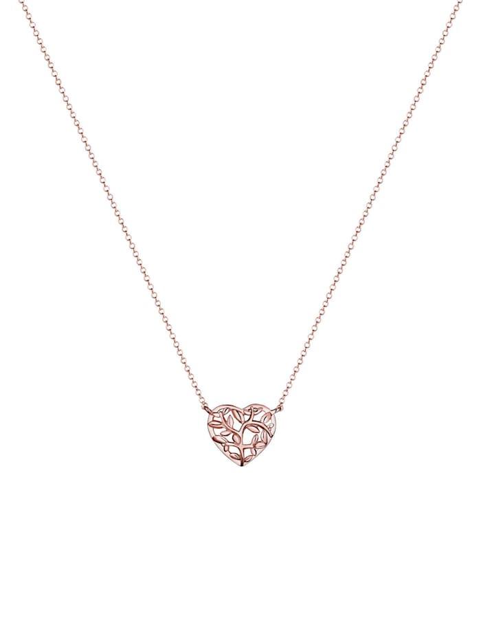 Halskette Lebensbaum Herz 925 Sterling Silber