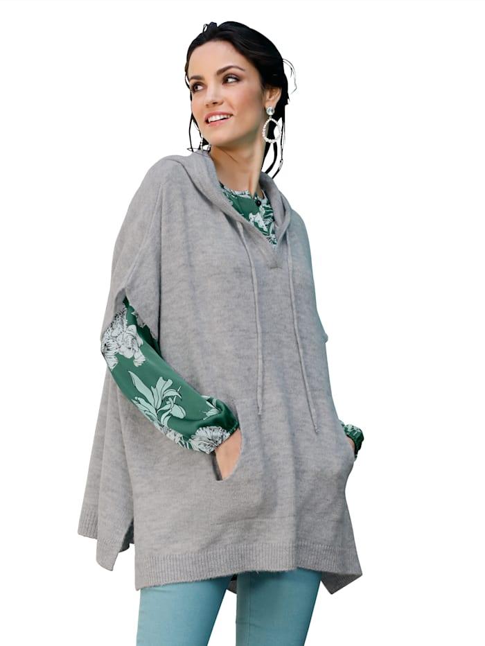 AMY VERMONT Pullover mit Kängurutaschen, Grau