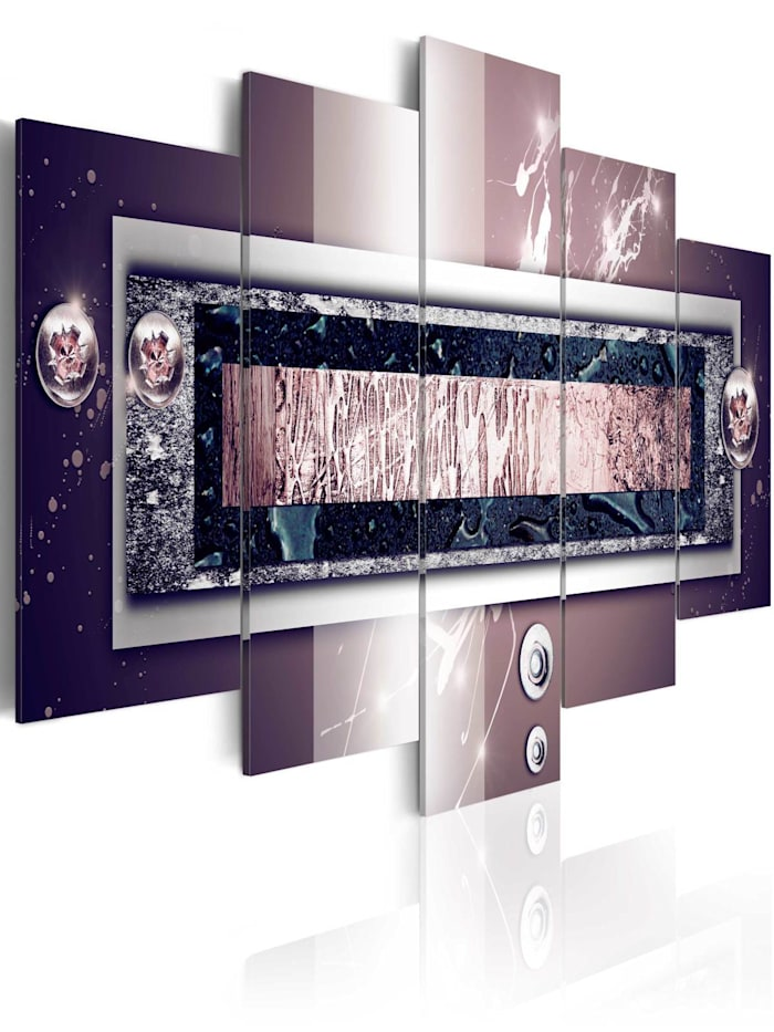 artgeist Wandbild Stellar stone, Schwarz,Grau,Violett,Weiß