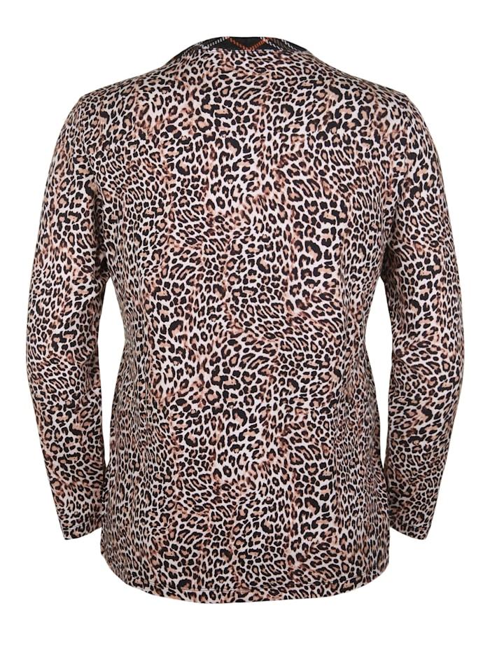 Langarmshirt mit Animal-Print Applikation