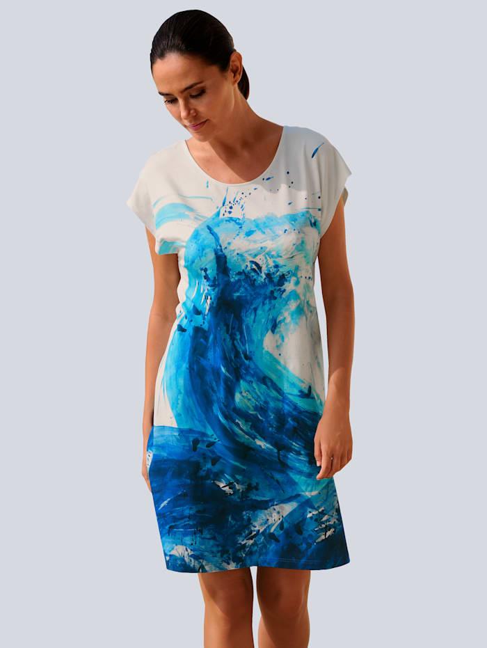 Alba Moda Strandkleid im unkompliziertem Style, Blau