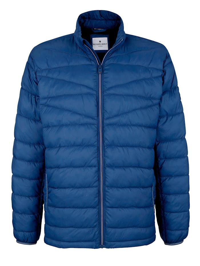 Roger Kent Prošívaná bunda v lehké kvalitě, Modrá