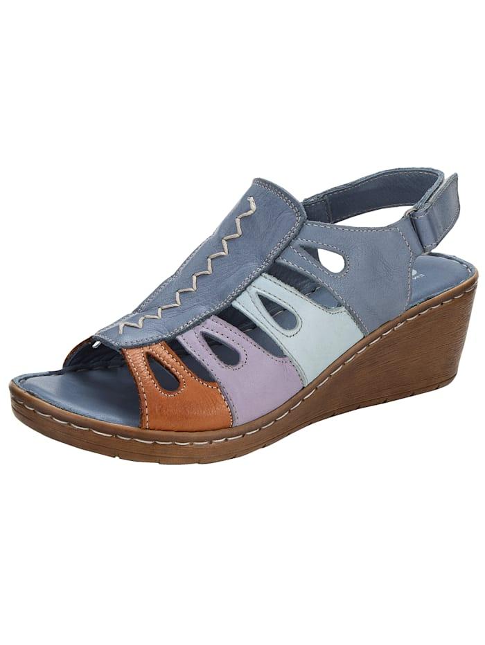 Gemini Sandaaltje in harmonieuze kleuren, Blauw