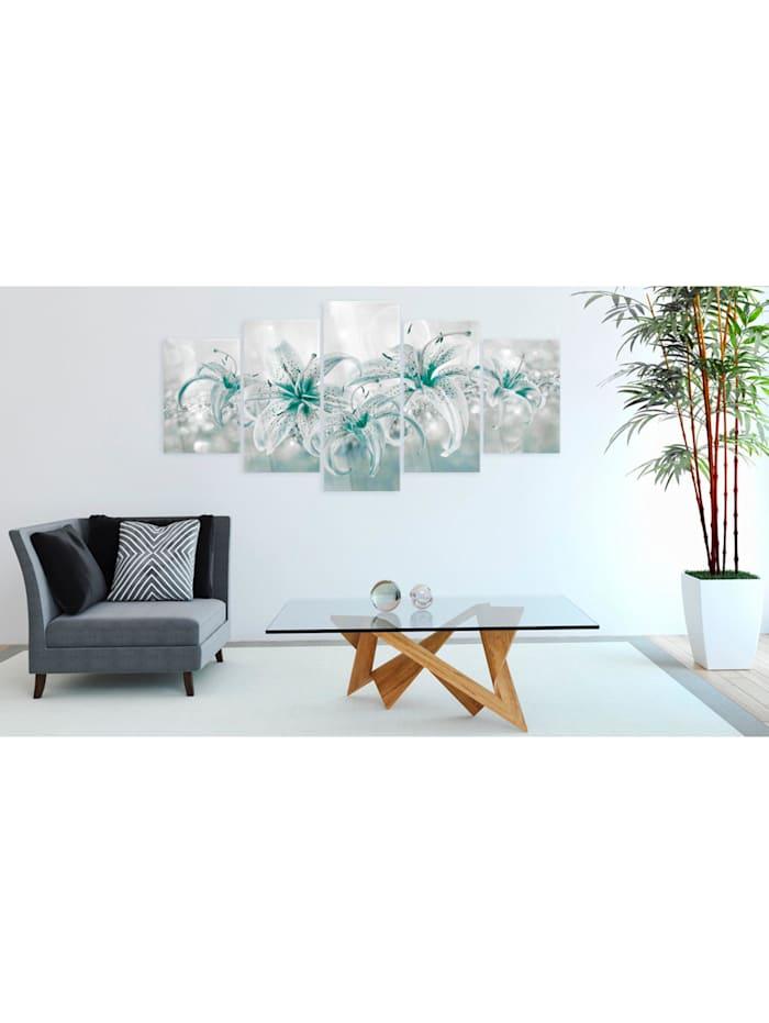 Acrylglasbild Sapphire Lilies [Glass]