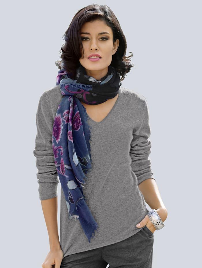Alba Moda Pullover aus kuschelweichem Kaschmir, Grau