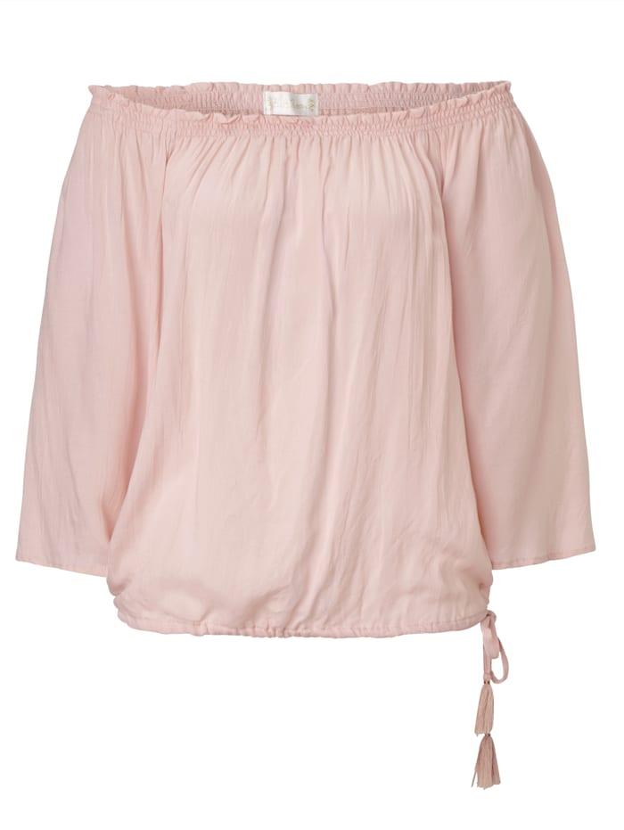 Hot Lava Carmenbluse, Pink