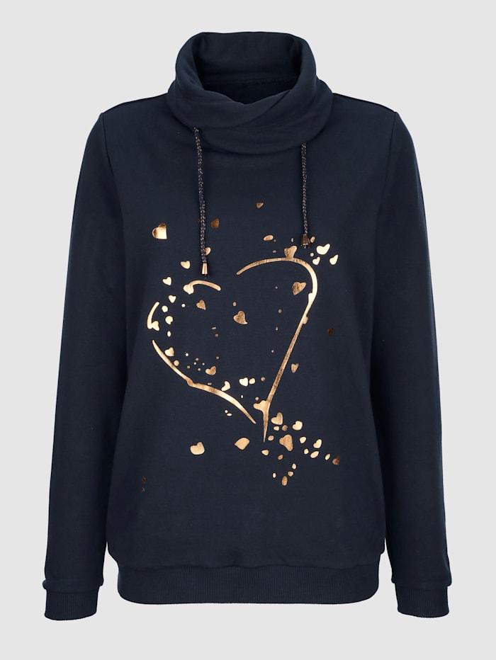 Sweatshirt med folietrykk