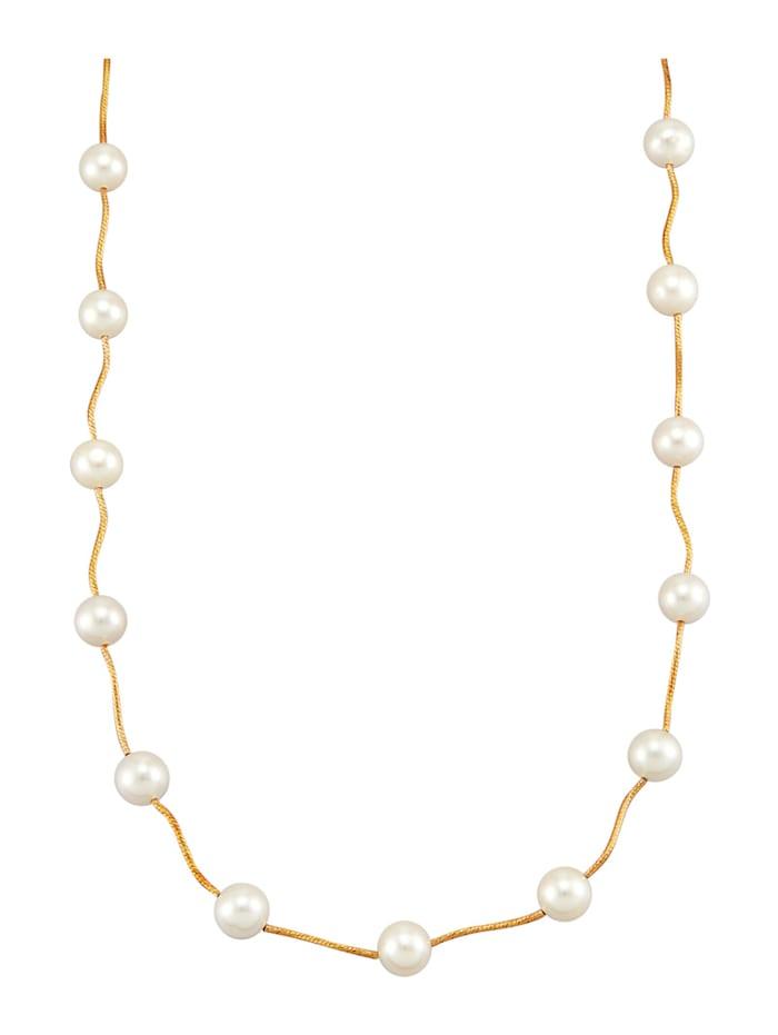Amara Perles Collier en perles de culture d'eau douce, Blanc