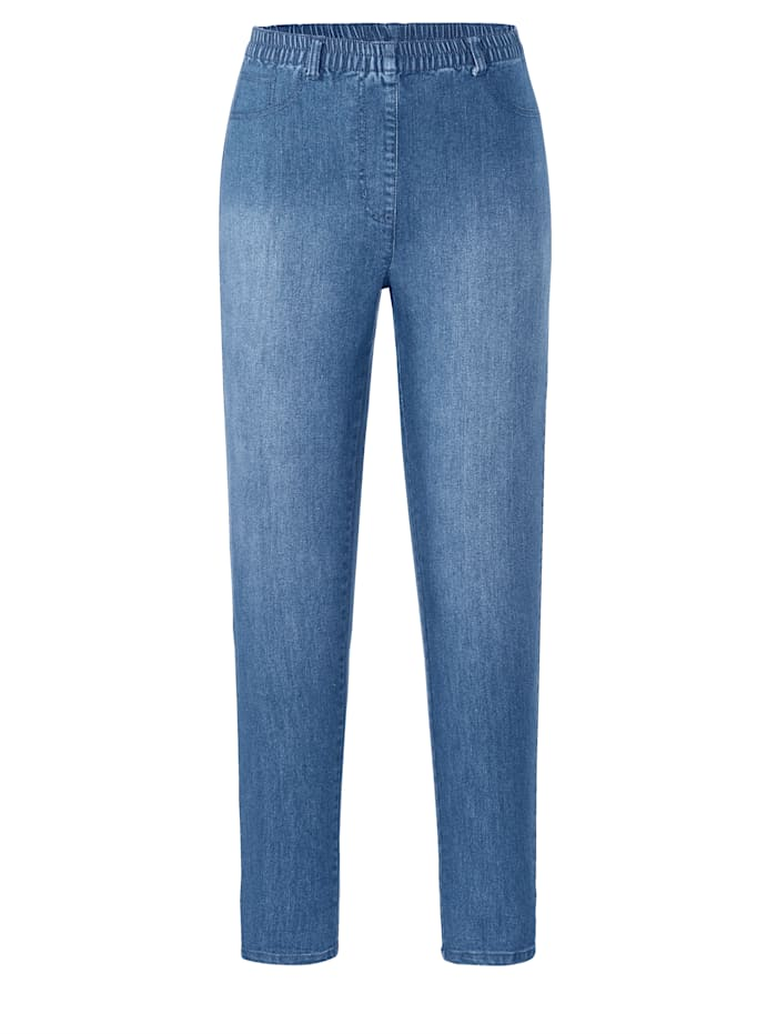 MIAMODA Jeggings mit praktischen Gürtelschlaufen, Blue bleached