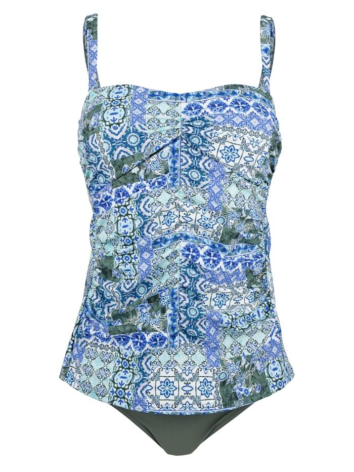 Sunflair Tankini à bretelles amovibles, Vert/Bleu