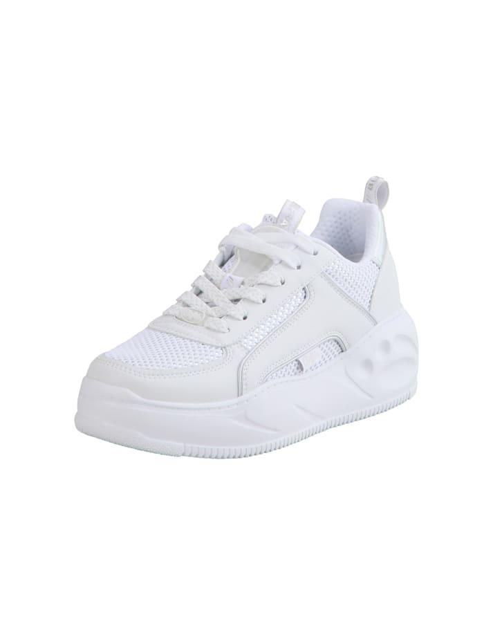 Buffalo Sneaker Flat SMPL 2.0, white/silver