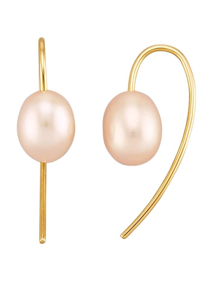 Diemer Perle Ohrringe mit weißen Süßwasser-Zuchtperlen, Weiß