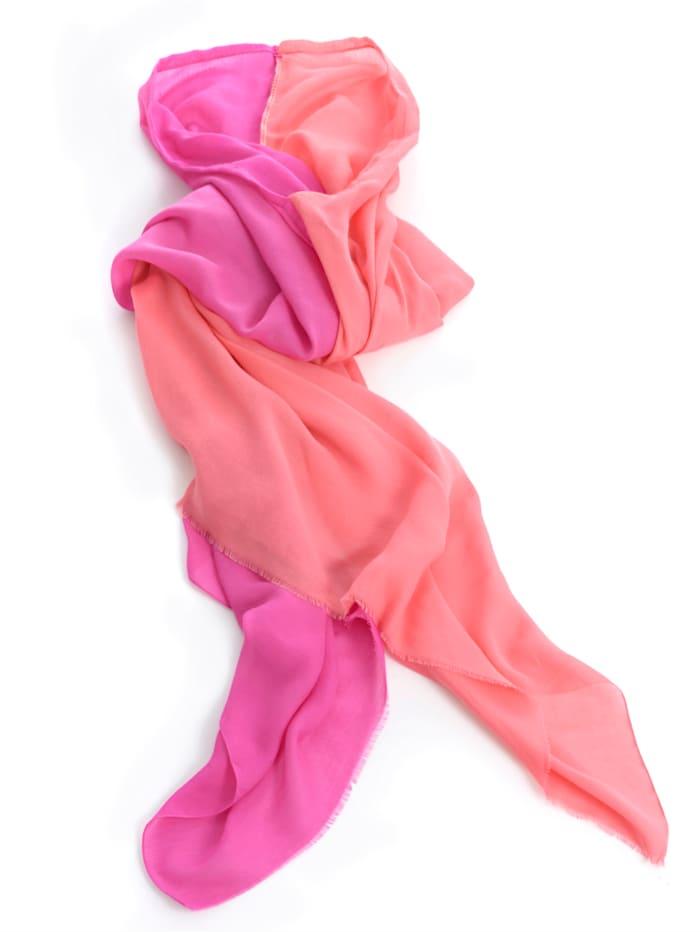 Alba Moda Poncho van licht materiaal, Pink/Koraal