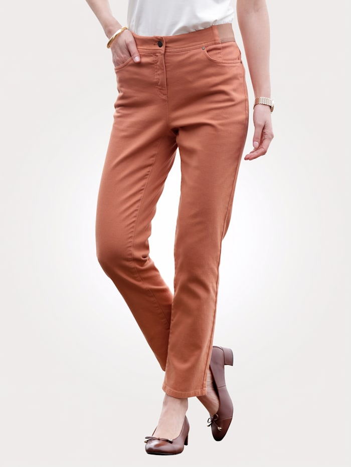 MONA Pantalon de style 5 poches, Noisette