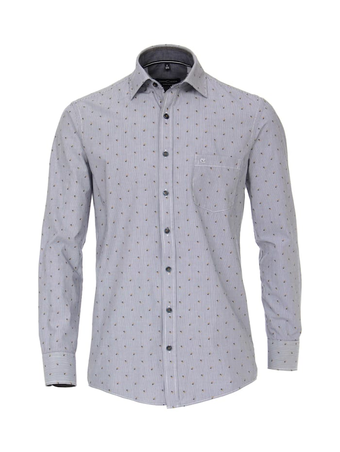 CASAMODA Hemd gestreift Comfort Fit, Blau