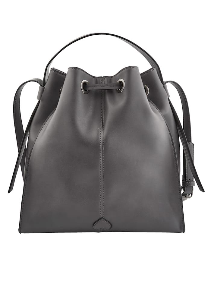 Handbag with loop fastening