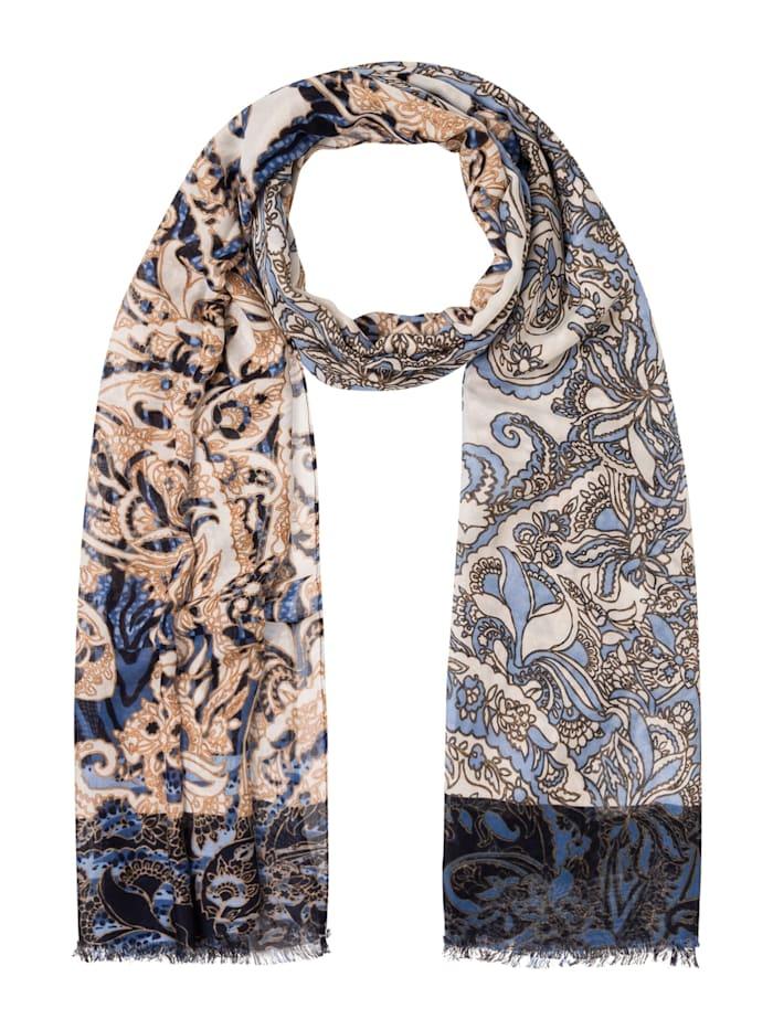 Olsen Modeschal mit orientalischem Druck, True Blue