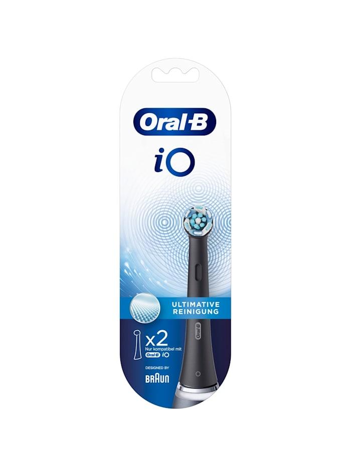 Braun Aufsteckbürste Oral-B iO Ultimative Reinigung 2er, Schwarz