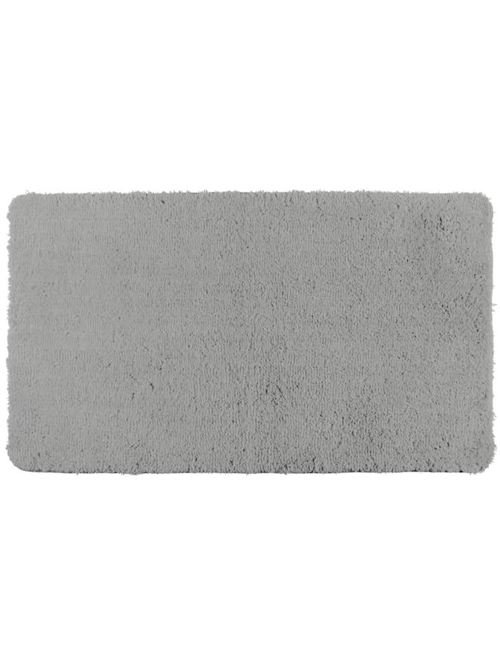 Wenko Badteppich Belize Light Grey, 70 x 120 cm, Mikrofaser, Polyester/Mikrofaser: Grau - Hellgrau
