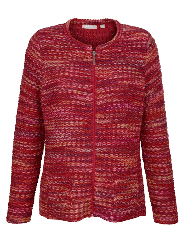 Cardigan in a textured knit