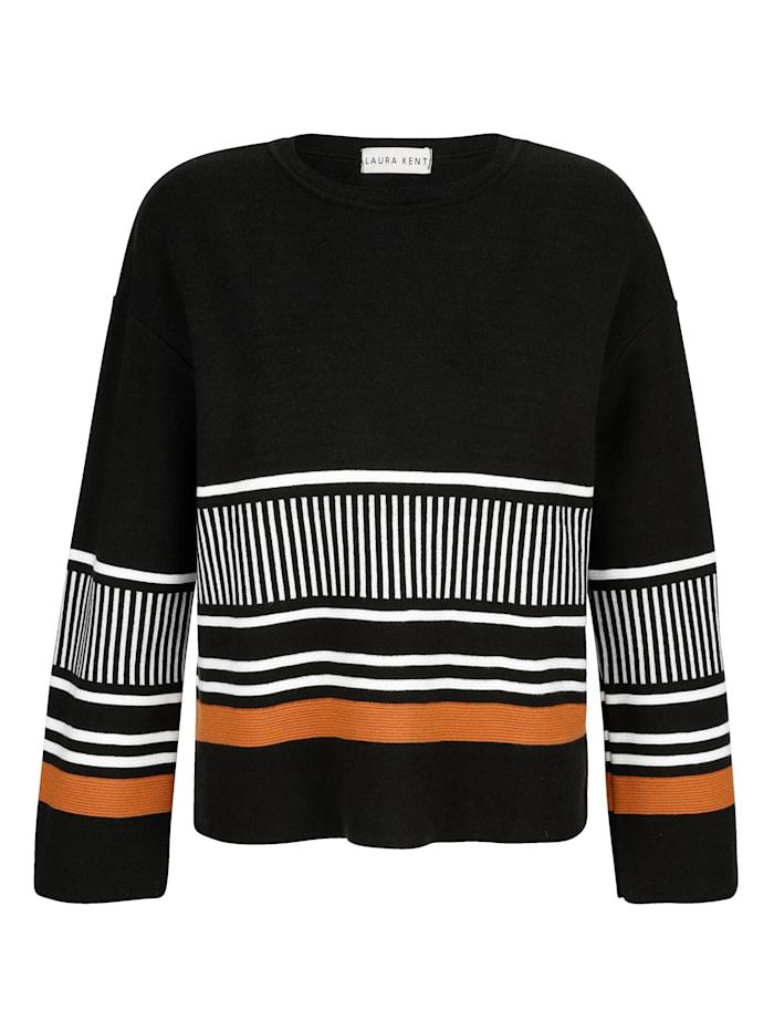 Pullover mit modernem Streifendesign