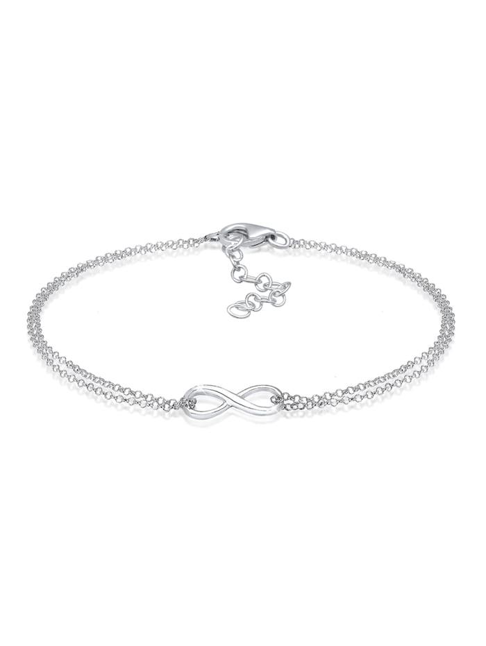 Elli Armband Infinity Symbol Love Unendlich 925 Sterling Silber, Silber
