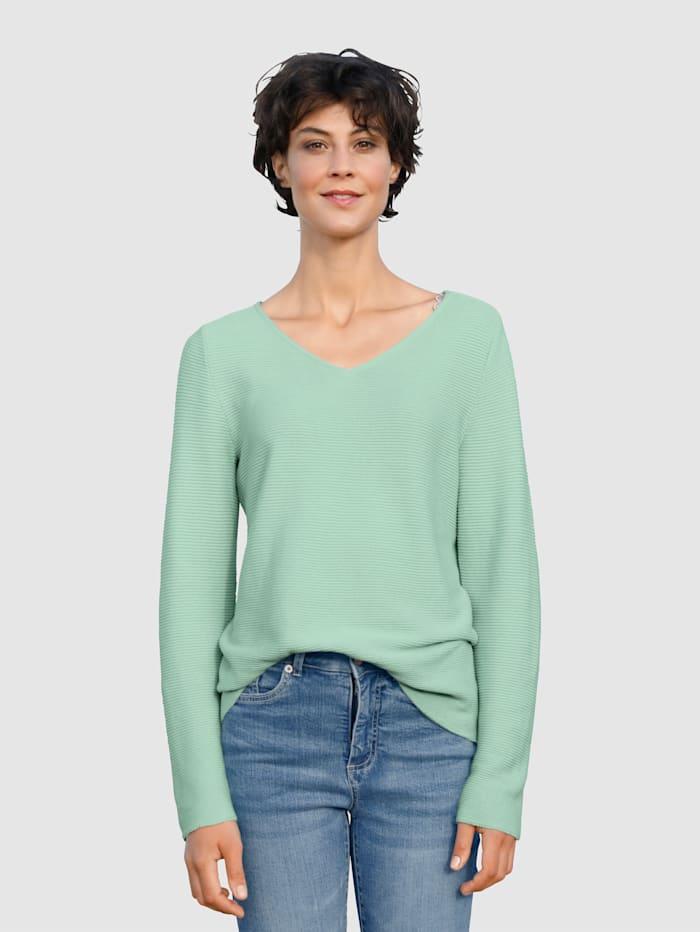 Dress In Pullover mit V-Ausschnitt, Lindgrün