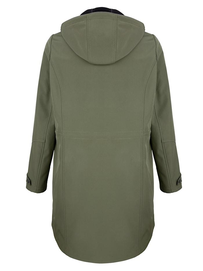 Hupullinen softshell-takki