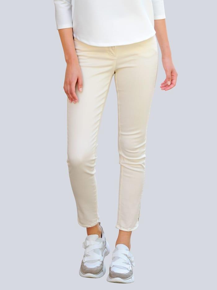 Alba Moda Pantalon Base arrondie, Blanc cassé