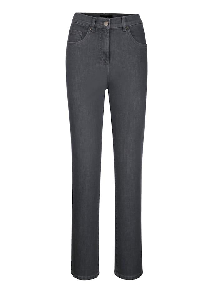 Paola Jeans med bekväm passform, Grey