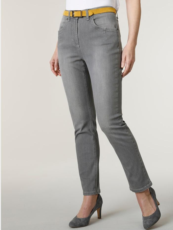 MONA Jeans Modieus washed effect, Lichtgrijs