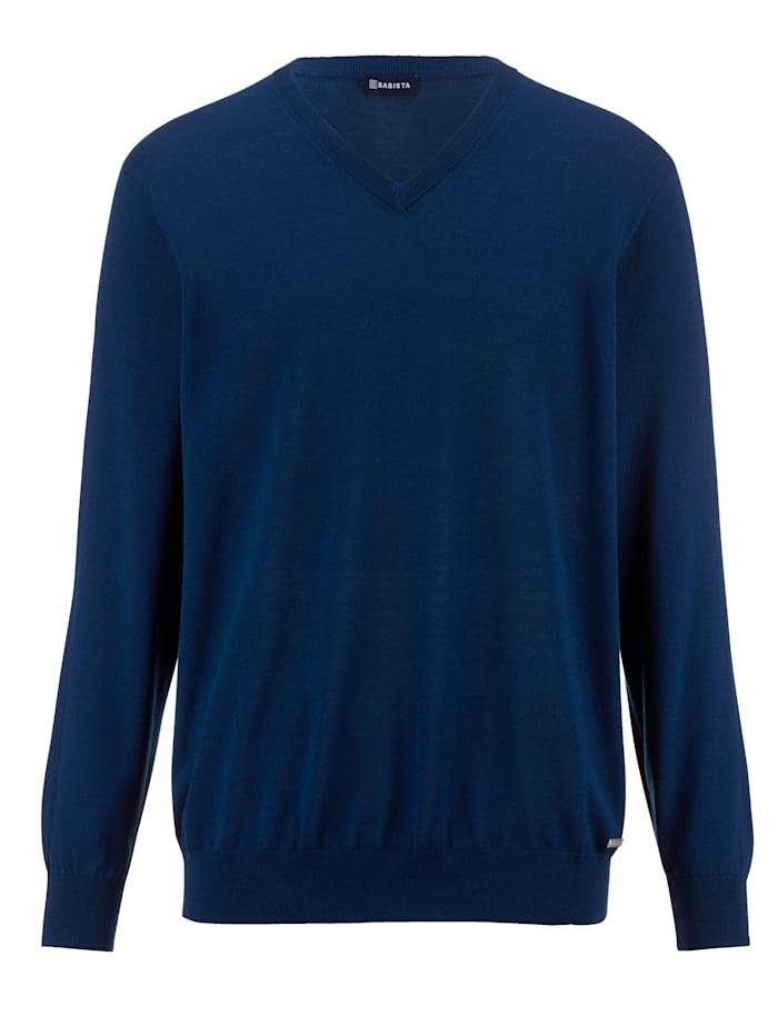 Babista Premium Trui van zuivere merinoswol, Donkerblauw